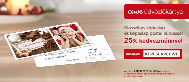 Klasszikus képeslap küldés postai úton - közvetlenül a címzettnek!