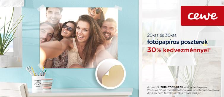 20-as és 30-as fotópapíros poszterek -30%