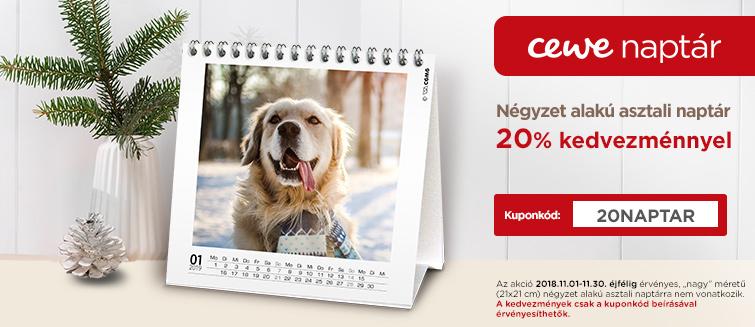 Négyzet alakú asztali naptár -20%
