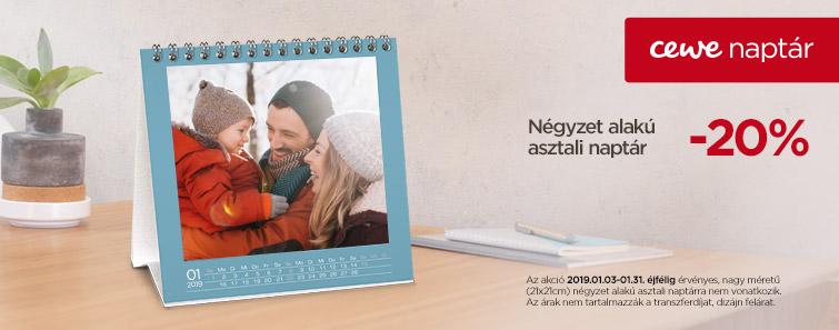Négyzet alakú asztali naptár - dm-digifoto.hu