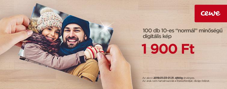 100 db 10-es normál minőségű digitális kép 1900 Ft