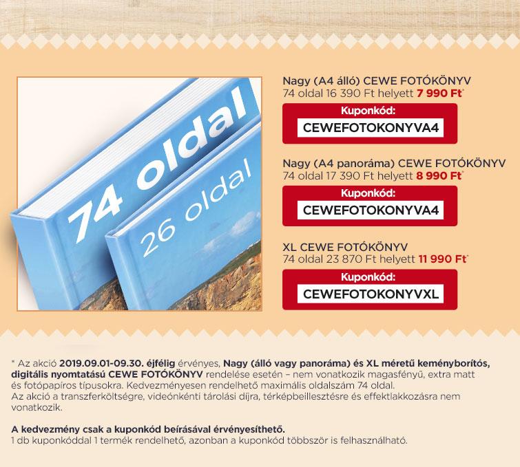 CEWE FOTÓKÖNYV - Akár 74 oldalig is bővítheti alapáron!