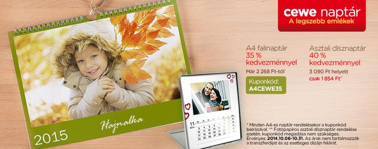 Fényképes naptár akció  – Cewe
