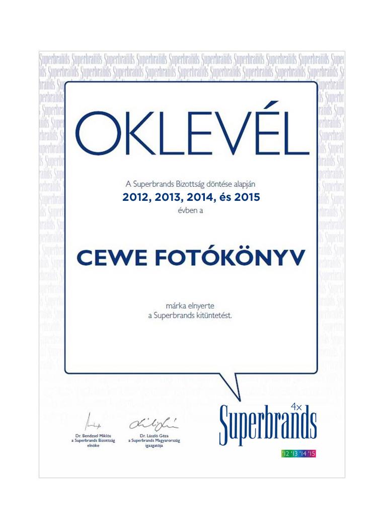 CEWE FOTÓKÖNYV - Superbrands 2015