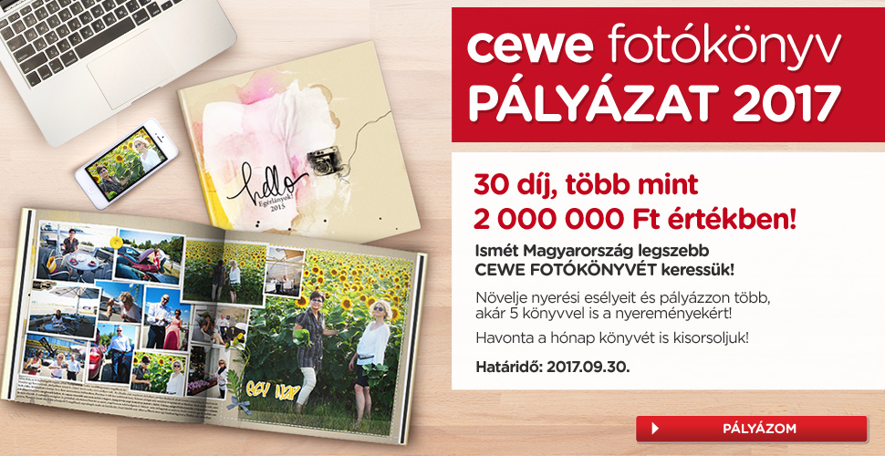 CEWE FOTÓKÖNYV Pályázat 2017