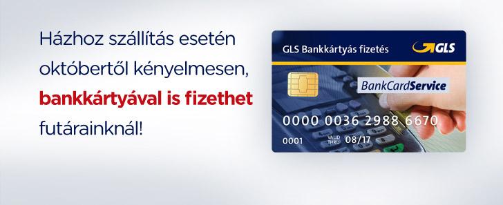 GLS bankkártyás fizetés futárnál