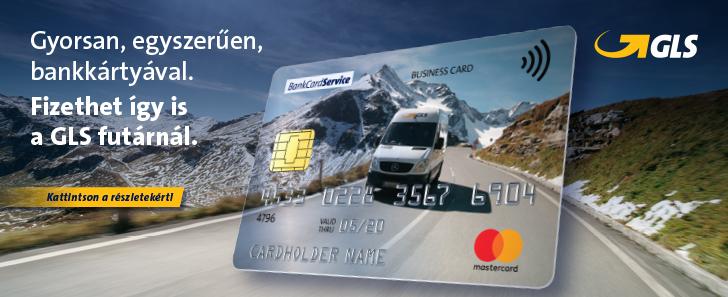 GLS - Használja bankkártyáját kézbesítéskor!