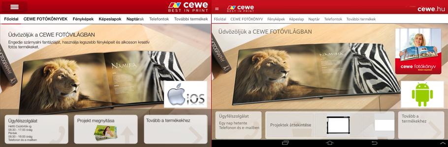 CEWE Fotóvilág alkalmazás - cewe.hu