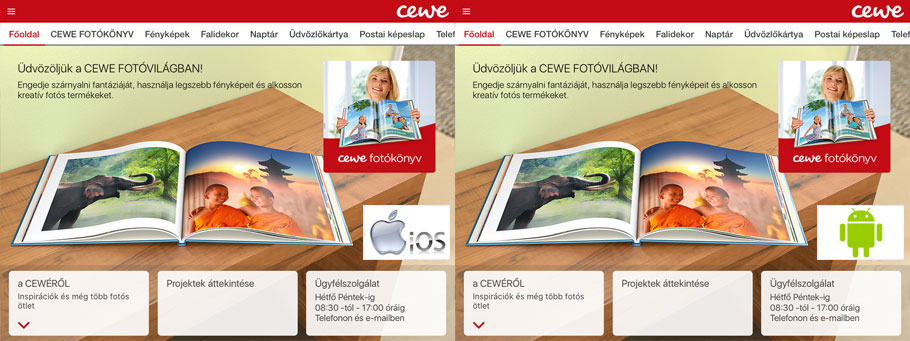 CEWE Fotóvilág alkalmazás - Rossmann