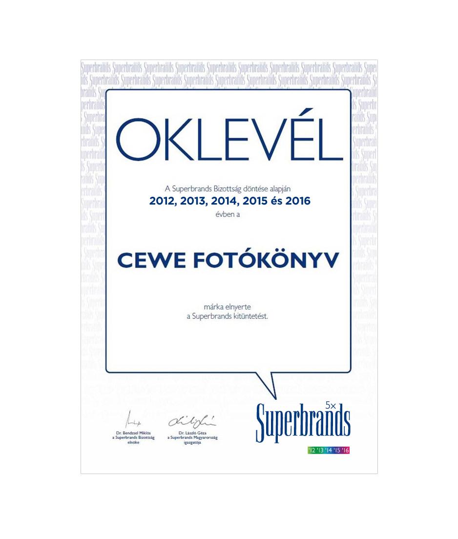 CEWE FOTÓKÖNYV - Superbrands 2016