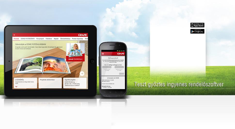 CEWE Mobil alkalmazás
