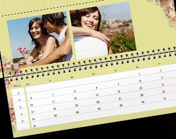 Fotói egyedileg tervezhető asztali határidőnaptár oldalakon