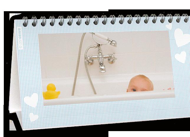 12+1 egyedileg készíthető állítható asztali naptár oldal - Cewe
