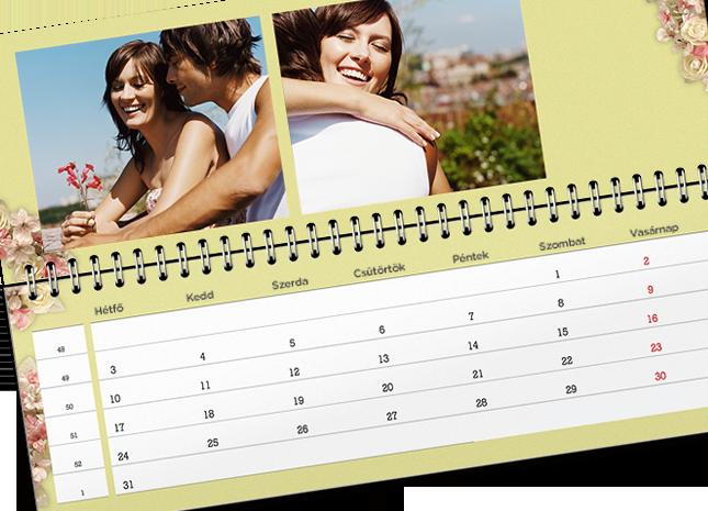 12+1 egyedileg tervezett asztali határidőnaptár oldal - Cewe