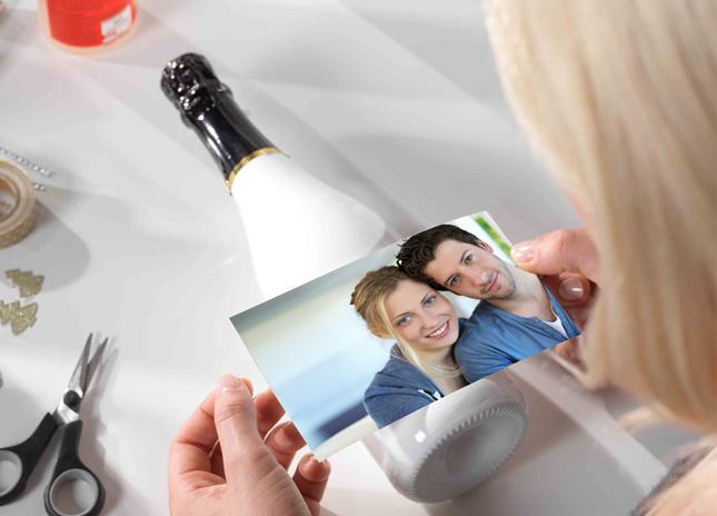Digitális fotó címkére nyomtatva