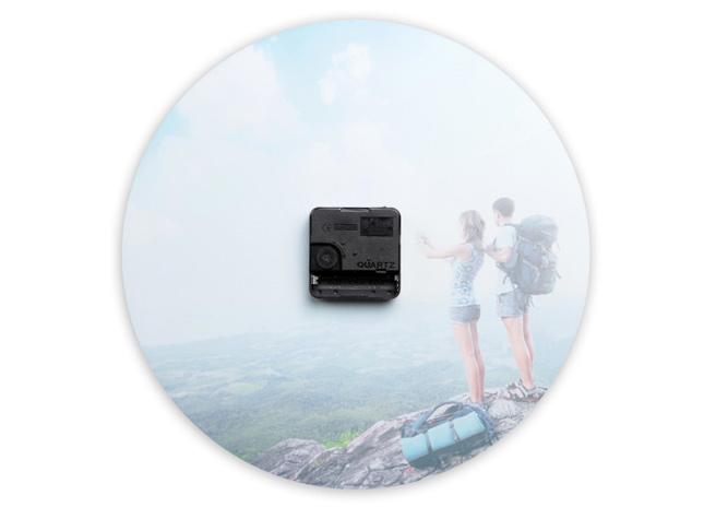 29 cm átmérőjű fali fényképes nagy üvegóra - Cewe