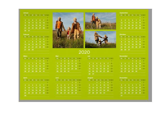 Kedvenc fotói 1 oldalas, A3 éves határidőnaptár oldalon