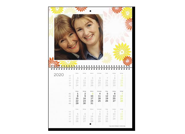 12+1 egyedi A2 határidőnaptár oldal - 3 hónap 1 lap - Cewe