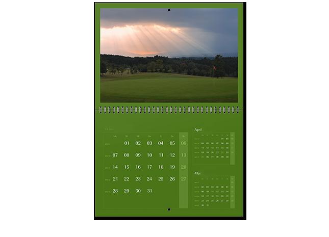 12+1 egyedileg tervezhető A3 határidőnaptár oldal - Cewe