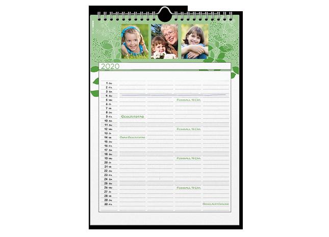 12+1 egyedi A4 családi határidőnaptár oldal - Cewe