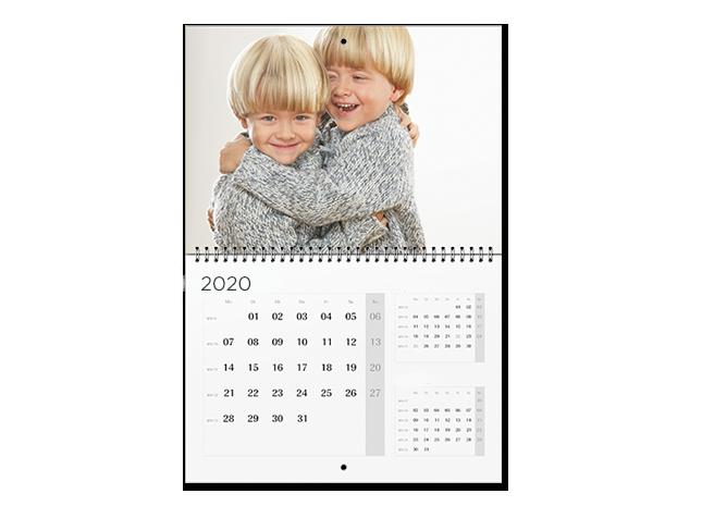 Képek és határidők A2 határidőnaptárban - 3 hónap/lap