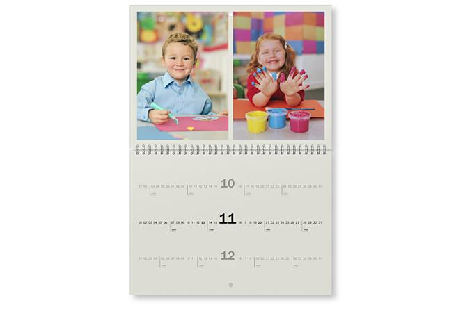 Képek és határidők A3 méretű naptár oldalakon