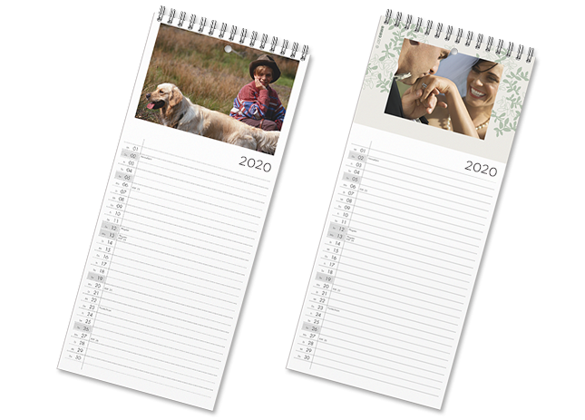 Digitális fotói konyhai naptár oldalakon