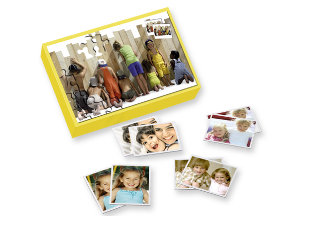 Egyedi memóriajáték 25 pár fotómotívummal