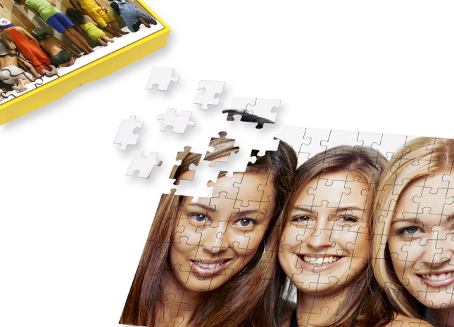 112 db-os puzzle ajándékdobozban, sablonnal - Cewe