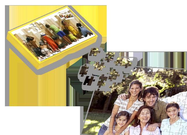 266 db-os puzzle ajándékdobozban, sablonnal - Cewe