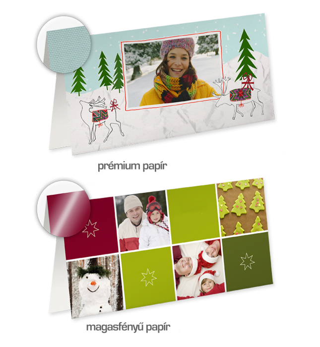 10 darabos hosszú oldalon hajtott üdvözlőkártya csomag - Cewe