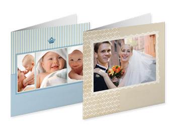Saját fényképes 14x14 cm méretű üdvözlőkártya nyomtatás