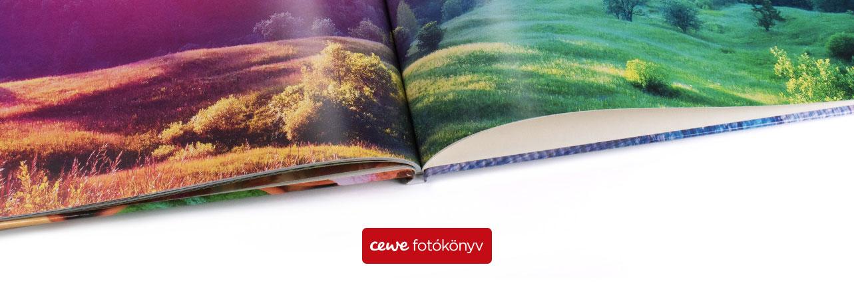 Választható CEWE FOTÓKÖNYV papírtípusok - 5 különböző