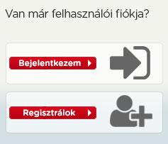 Felhasználói fiók - bejelentkezés/regisztráció