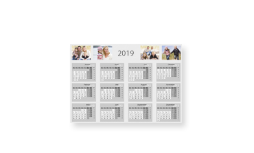 Online fényképes éves tervezőnaptár készítés