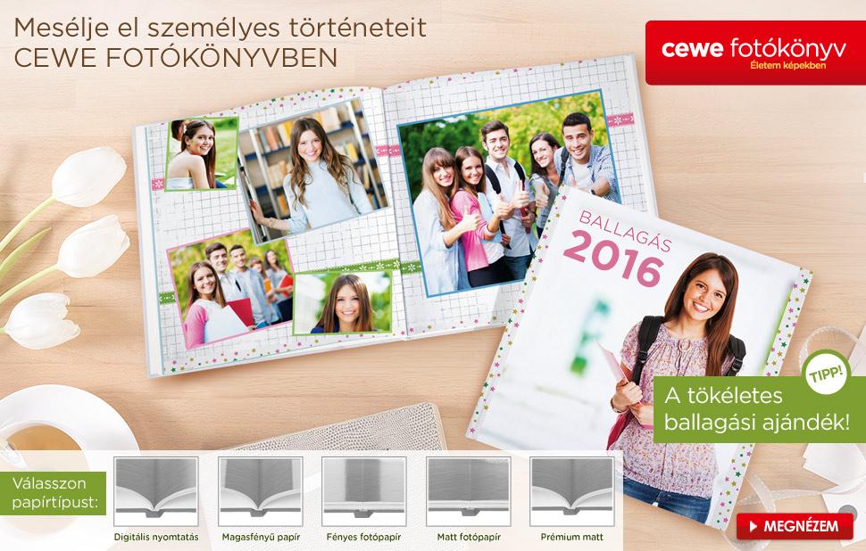 Ballagási CEWE FOTÓKÖNYV készítés könnyedén online