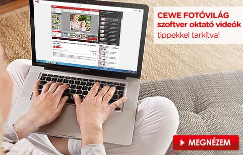 CEWE Fotóvilág szoftver oktató videók