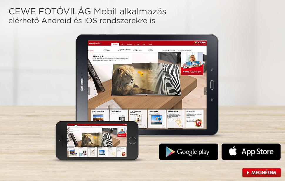 Mobil alkalmazás - CEWE