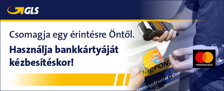 Használja bankkártyáját kézbesítéskor!