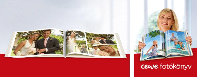 XXL CEWE FOTÓKÖNYV esküvő motívummal