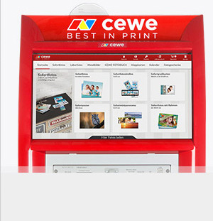 Fotóterminál érintőképernyő - termékek kiválasztása