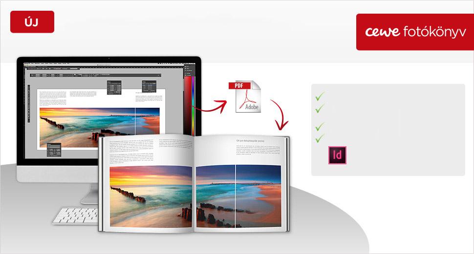 CEWE FOTÓKÖNYV szerkesztés pdf-ből