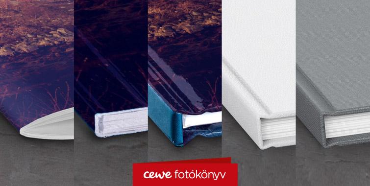 CEWE FOTÓKÖNYV borítótípusok - 5 féle