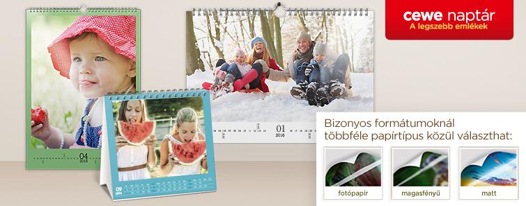 Egyedi fotónaptár készítés online, fényképes naptár nyomtatás