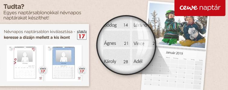 Névnapos naptár készítés