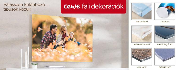 CEWE Fali dekoráció készítés, nyomtatás fényképből