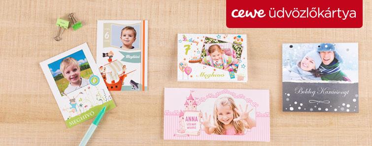 Fényképes üdvözlőkártya készítés, rendelés- Cewe