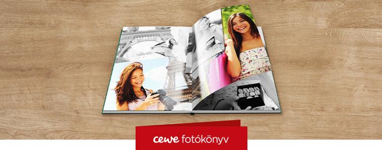 Fényes fotópapíros nagy CEWE FOTÓKÖNYV készítés – Cewe