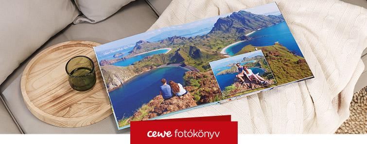 Négyzetes (21x21 cm) CEWE FOTÓKÖNYV készítés - Cewe