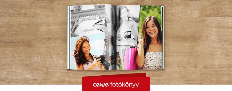 Magasfényű nagy fotókönyv készítés – Cewe
